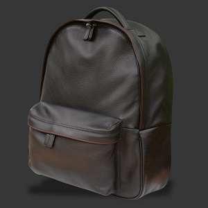 sac à dos en cuir noir COVERTEC